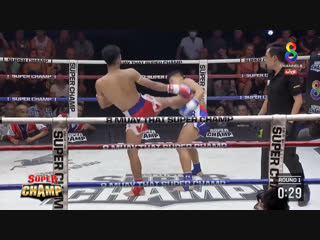 Чёткий кик. muay thai super champ.