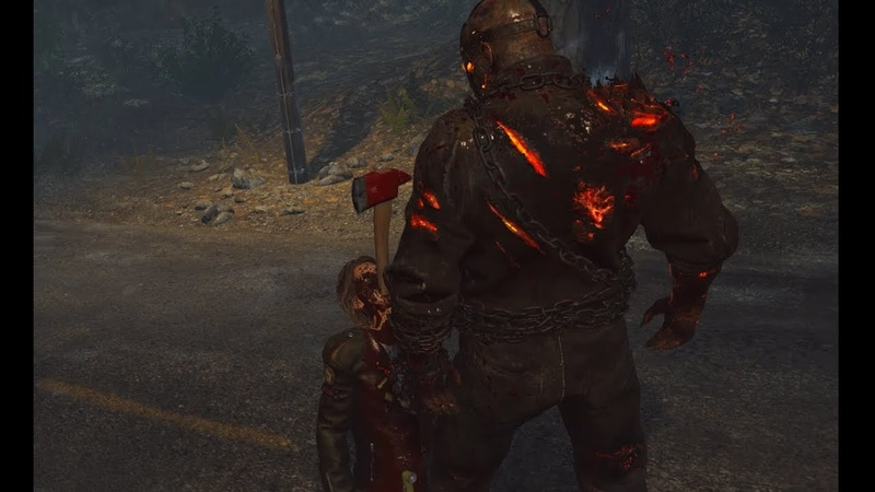 Unreleased Fire Axe Kills   Friday the 13:The Game