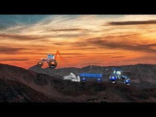 СИНИЙ ТРАКТОР ЕДЕТ ПО ГОРАМ / BLUE TRACTOR RIDES THROUGH THE MOUNTAINS