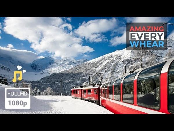 ★ Красивые и опасные железные дороги Швейцария Мьянма Тайвань Индия США Невероятно но факт