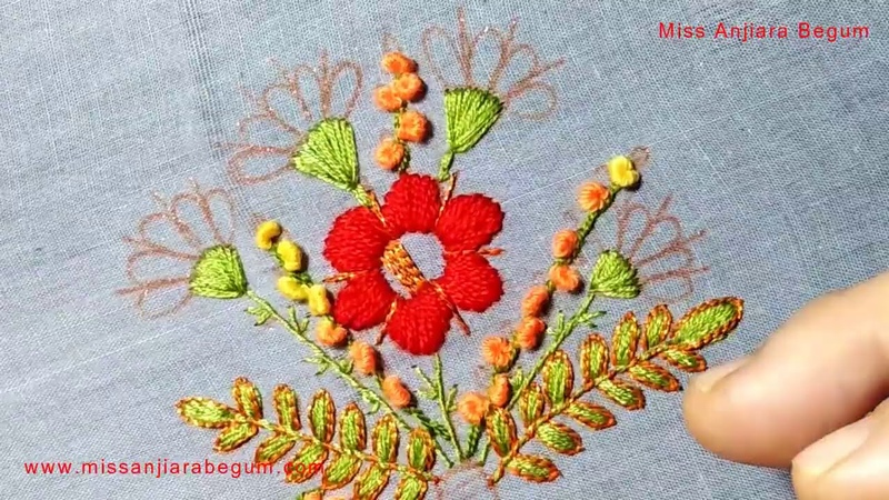 Different Colored Hand embroidery, Embroidery for all, Exclusive Embroidery Project by Anjiara-204