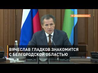 Вячеслав Гладков знакомится с Белгородской областью
