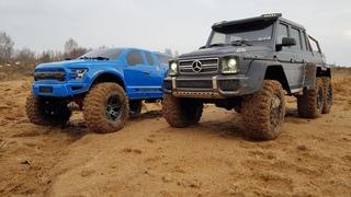 ГЕЛЕНДВАГЕН 6X6 против Ford Raptor 4x4 ... Сравнительный тест Traxxas TRX-6 и TRX-4. ОФФроад