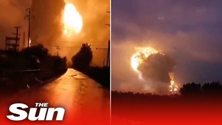 Huge explosion at aluminium plant caused by flooding in central China