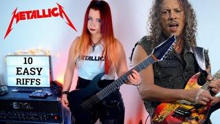 10 EASY Metallica RIFFS