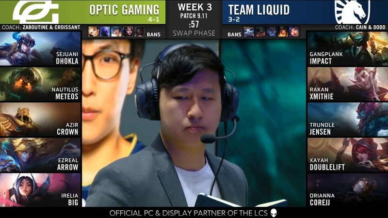 OPT (Crown Azir) VS TL (Doublelift Xayah) Highlights - 2019 NA LCS Summer W3D2