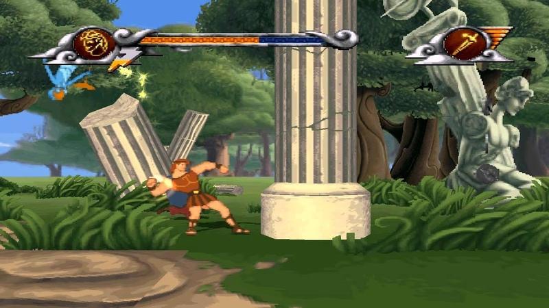 прохождение Disney's Hercules RUS PS1 уровень 1 русская версия