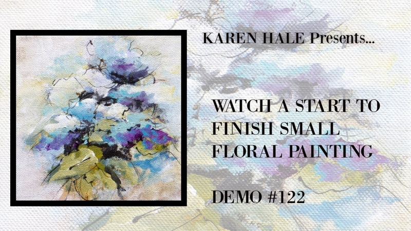 Watch From Start To Finish A Small Floral Painting Demo 122