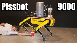 Teaching a Robot Dog to Pee Beer