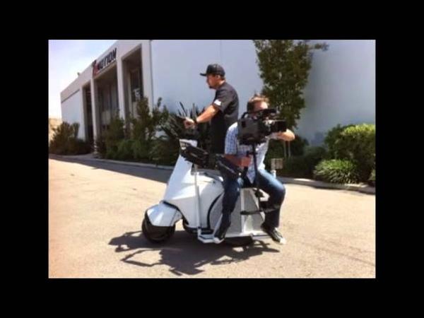 Американцы приспособили полицейский скутер для киносъёмок