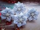 Красивые новогодние бантики из лент МК Beautiful Christmas bows of ribbons Novos laços de fitas