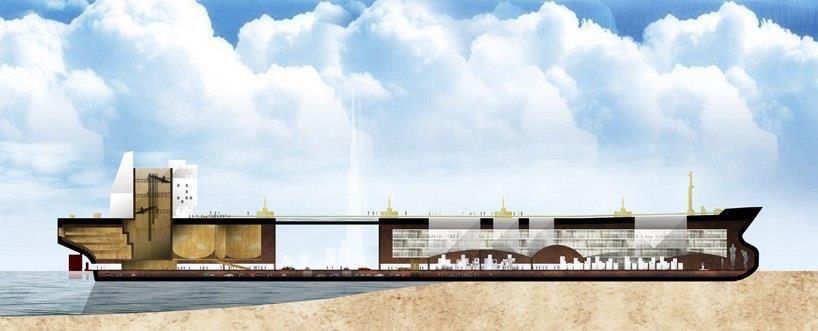 Проект перепрофилирования мега-нефтяных танкеров для наземного использования