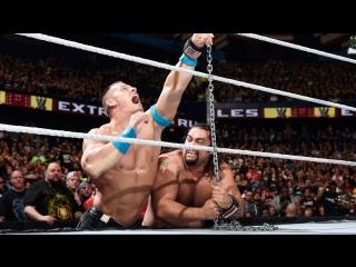 (WWE Mania) Extreme Rules 2015 John Cena vs. Rusev  (Russian Chain Match)