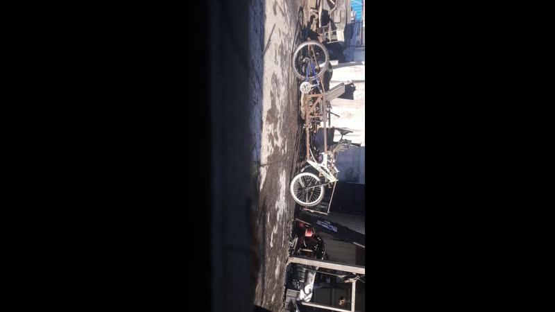 Разборка и распиливание веломобиля в прямом эфире
