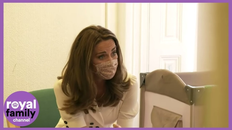 Kate Wears a Mask During Visit to Baby Bank in Yorkshire
