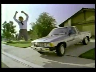 VINTAGE 80'S OH WHAT A FEELING TOYOTA COMMERCIAL #1 W UPSIDE DOWN CARS