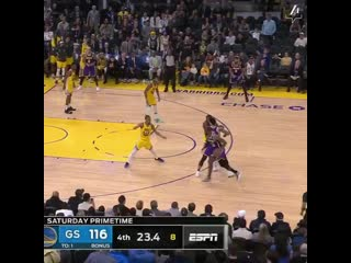 LeBron James from downtown, and that seals the deal!