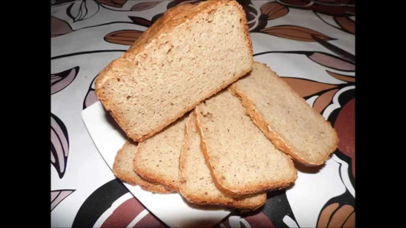 Ржаной хлеб в хлебопечке. Рецепт. Recipe of preparation of rye bread.