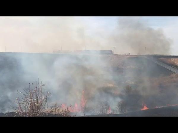 Волгоградская область снова в огне сильный ветер осложнил пожарную обстановку