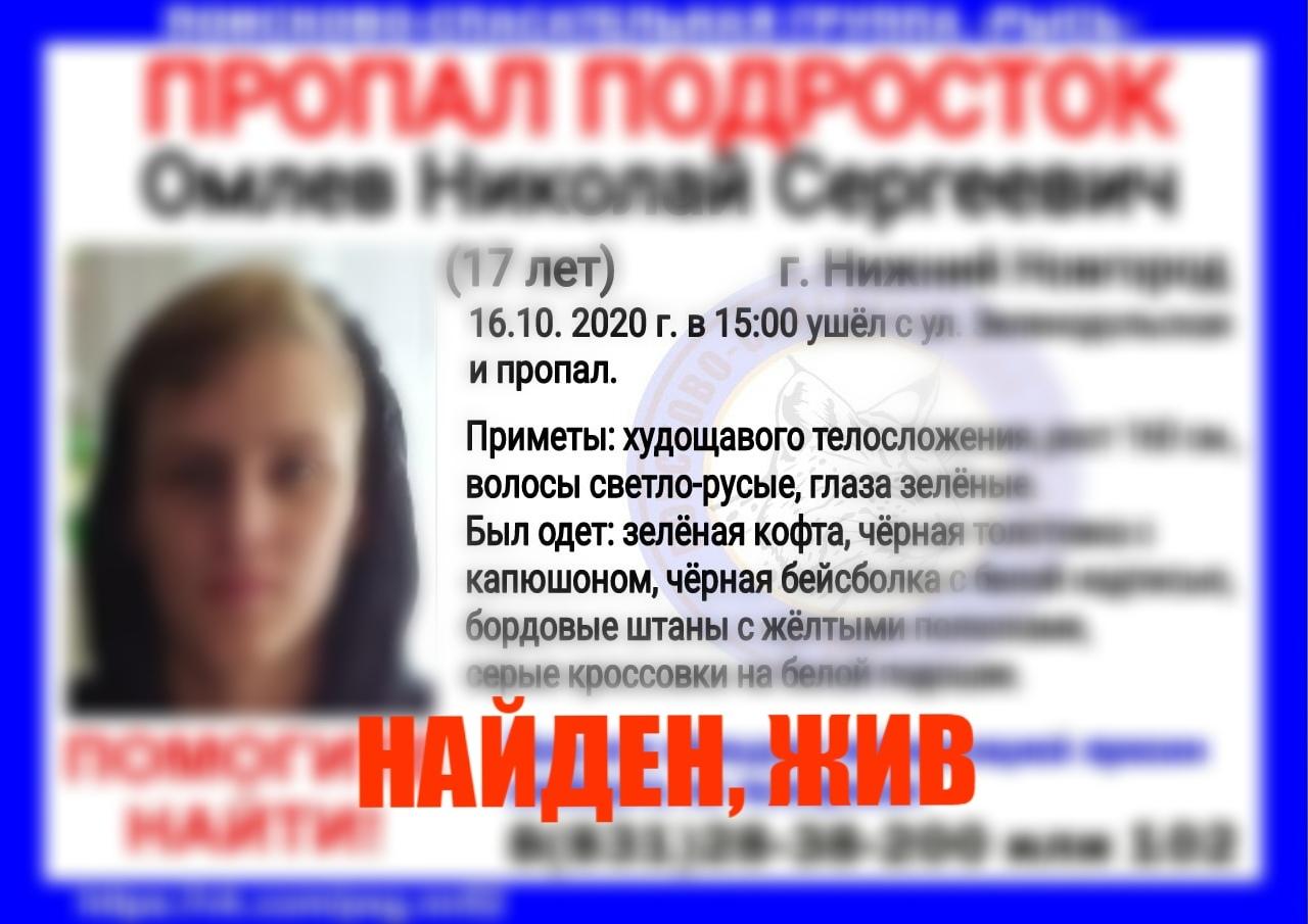 Омлев Николай Сергеевич, 17 лет, г. Нижний Новгород