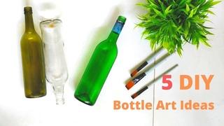 5 DIY Bottle Art Ideas
