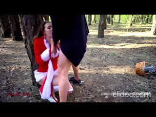 Mia Bandini-Little Red Riding Hood is caught and fucked by wolf in the forest
