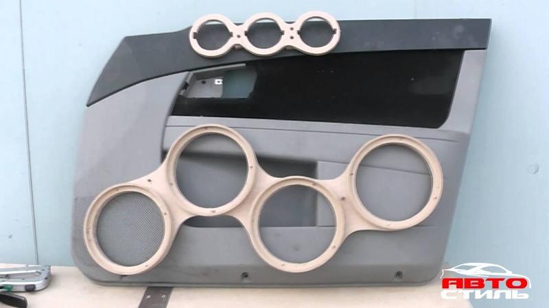 Процесс изготовления дверных карт Обшивки под громкий фронт на Лада Приора от Автостиль