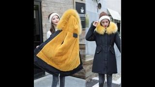 Женская куртка с хлопковой подкладкой, зимняя пуховая парка размера плюс 6xl с капюшоном и большим меховым воротником, m186,