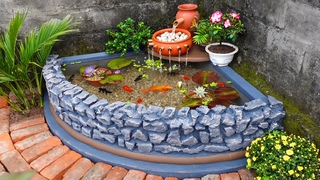 How to Build A Beautiful Waterfall Aquarium Very Easy \ For Your Family Garden