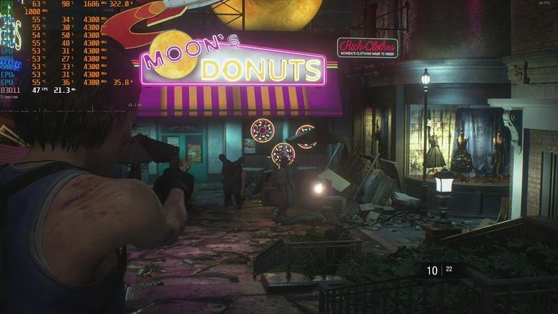 Resident Evil 3 Raccoon City Demo 4k 2160p dx11 gameplay rx vega 64 liquid oc