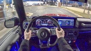 2020 Mercedes-AMG G63 - POV Night Drive (Binaural Audio)