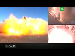 Прототип корабля Starship для полетов на Марс взорвался на испытаниях