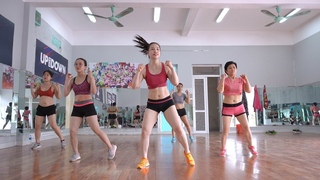 25 Mins Aerobic reduction of belly fat quickly - Aerobic dance workout easy steps  | EMMA Fitness
