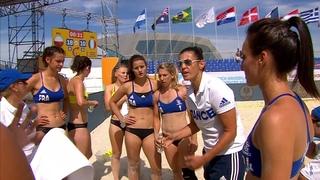 Poland vs France   Preliminary Round   2018 IHF Women's Beach Handball World Championship