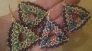 Tutorial orecchini Triade con superduo gemduo e rocailles