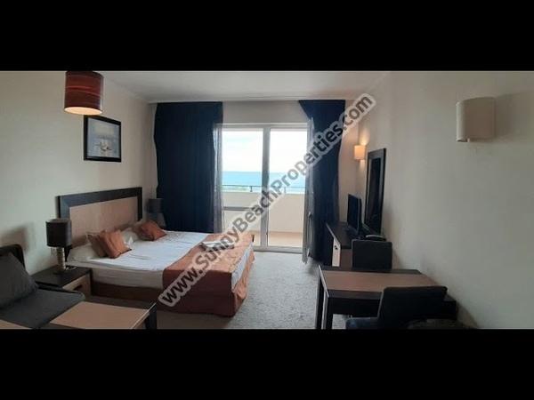 Beachfront sea view furnished Studio apartment for sale in Majestic apart hotel Sunny beach Bulgaria