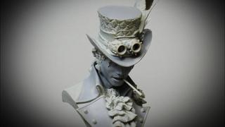 Sculpting Michael Jackson in Steampunk costume