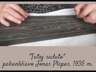 "'Tutoj saduto"" - five string kankles sutartine playing traditional way"