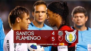 Santos 4 x 5 Flamengo - Melhores Momentos (HD 720p) Campeonato Brasileiro 2011