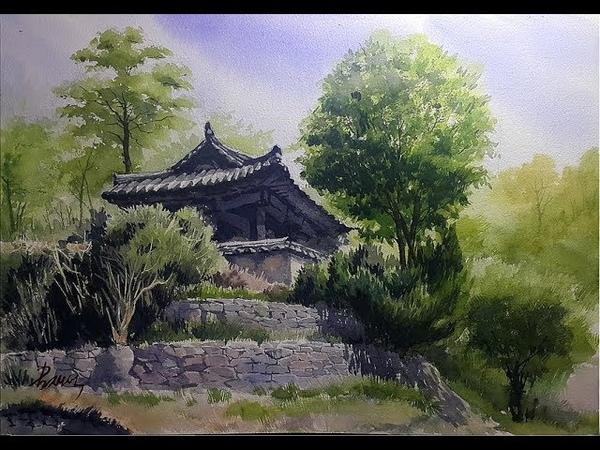 Watercolor Painting Jack Kim 김재석 그림카페 사미정의 풍경
