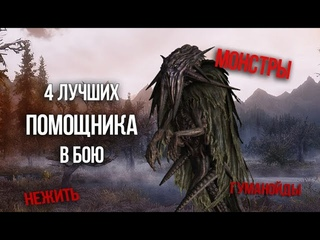 Skyrim 4 ЛУЧШИХ ПОМОЩНИКА В БОЮ! Самые сильные монстры и последователи (не компаньоны)