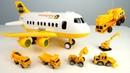 Машины-помощники Самолет привез рабочие машины строить песочницу. Игры с пластилином Плей До
