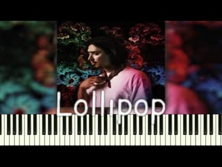 Gafur feat  JONY Lollipop  PIANO_KARAOKE | НОТЫ+MIDI