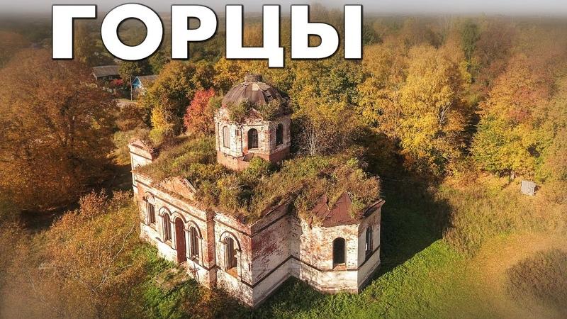 Деревня Горцы аэросъемка Шимский район