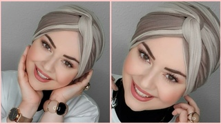 اجمل لفات حجاب توربان تركى موضة2020😉لجميع الأوقات انتى الأجمل 💖hijab turban Tutorial