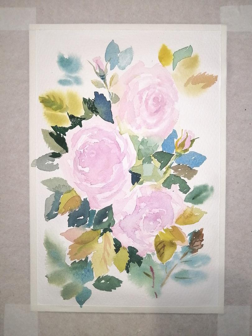 ОНЛАЙН-УРОК по рисованию «Дикая роза», изображение №10