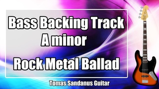 Bass Backing Track A minor - Am - 80s Power Ballad Hard Rock Metal Slow Epic - NO BASS Jam Backtrack