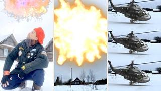 23 февраля Салют в деревне Русского супер героя / February 23 Salute. Russian super hero(series)