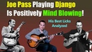 Joe Pass plays Django - His Coolest Licks On Limehouse Blues
