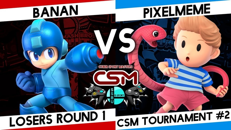 SSBU CSM tournament losers round 1 BANAN Мегамен vs Pixelmeme Лукас